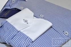 Camicia puro cotone - Particolare asola bicolore