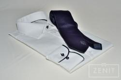 Abbinamento con cravatta artigianale in seta